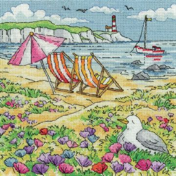 Heritage Crafts Karen Carter Collection Cross Stitch Kit - Summer Shore